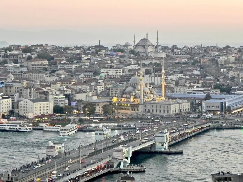 Galata Brücke und Hagia Sophia